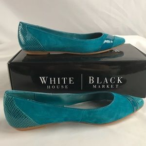 WHBM turquoise flats 8 (right) and 8.5 (left)